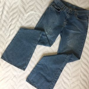 Lucky Brand Jeans Flare Legs Dungarees